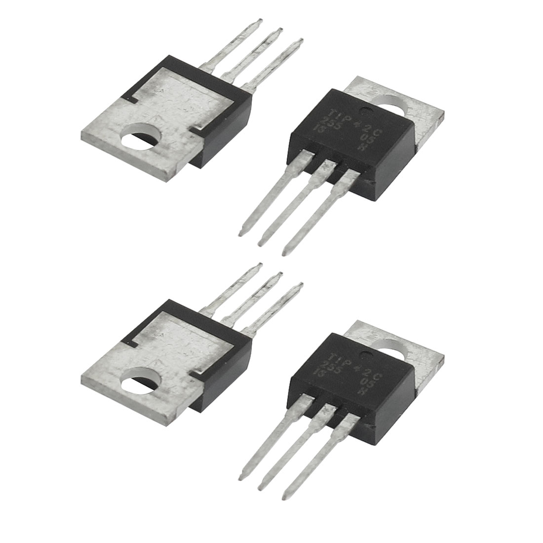 4 Pcs 100V 6A 65W Through Hole Fast Switching NPN Transistors Triodes