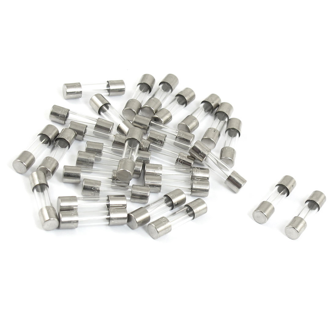 30 Pcs Electronic Fast Blow Glass Fuse Tube 250V 8A