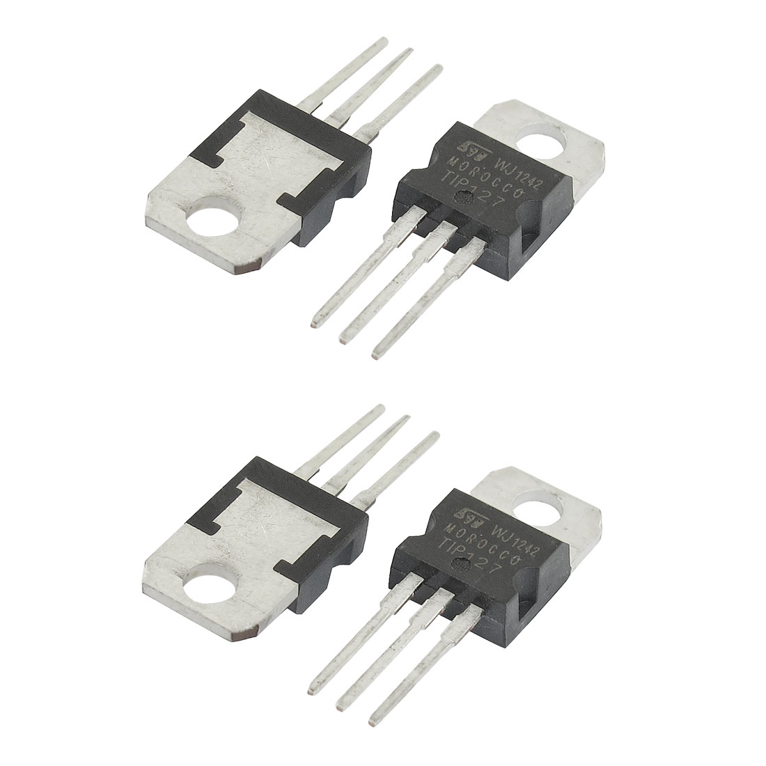 4 Pcs 100V 8A TIP127 High Voltage Fast Switching NPN PNP Power Transistors
