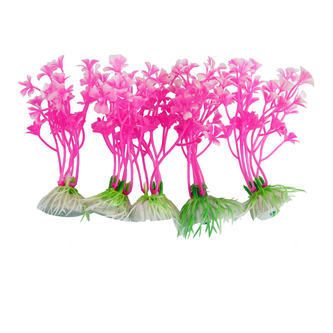 "10 Pcs Underwater 4.3"" High Fuchsia Manmade Plant Decor for Aquarium Fish Tank"