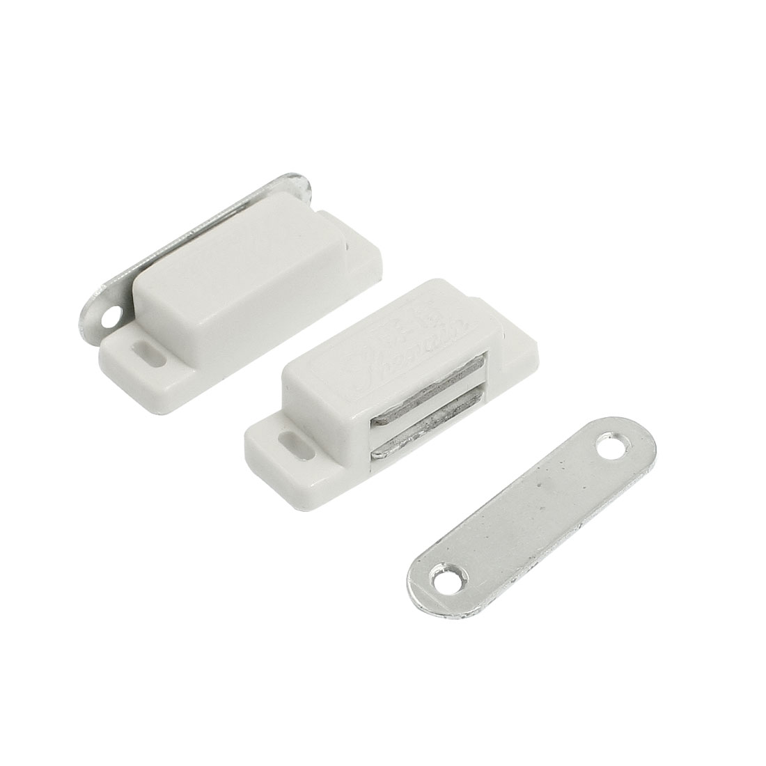 Pair Cupboard Cabinet Doors Plastic Magnetic Catch Latch White 1.8""