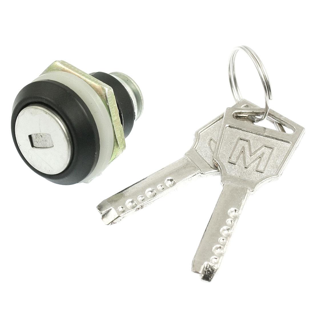 Cabinet Doors 17mm Dia Male Thread Cam Lock w 2 Pcs Keys