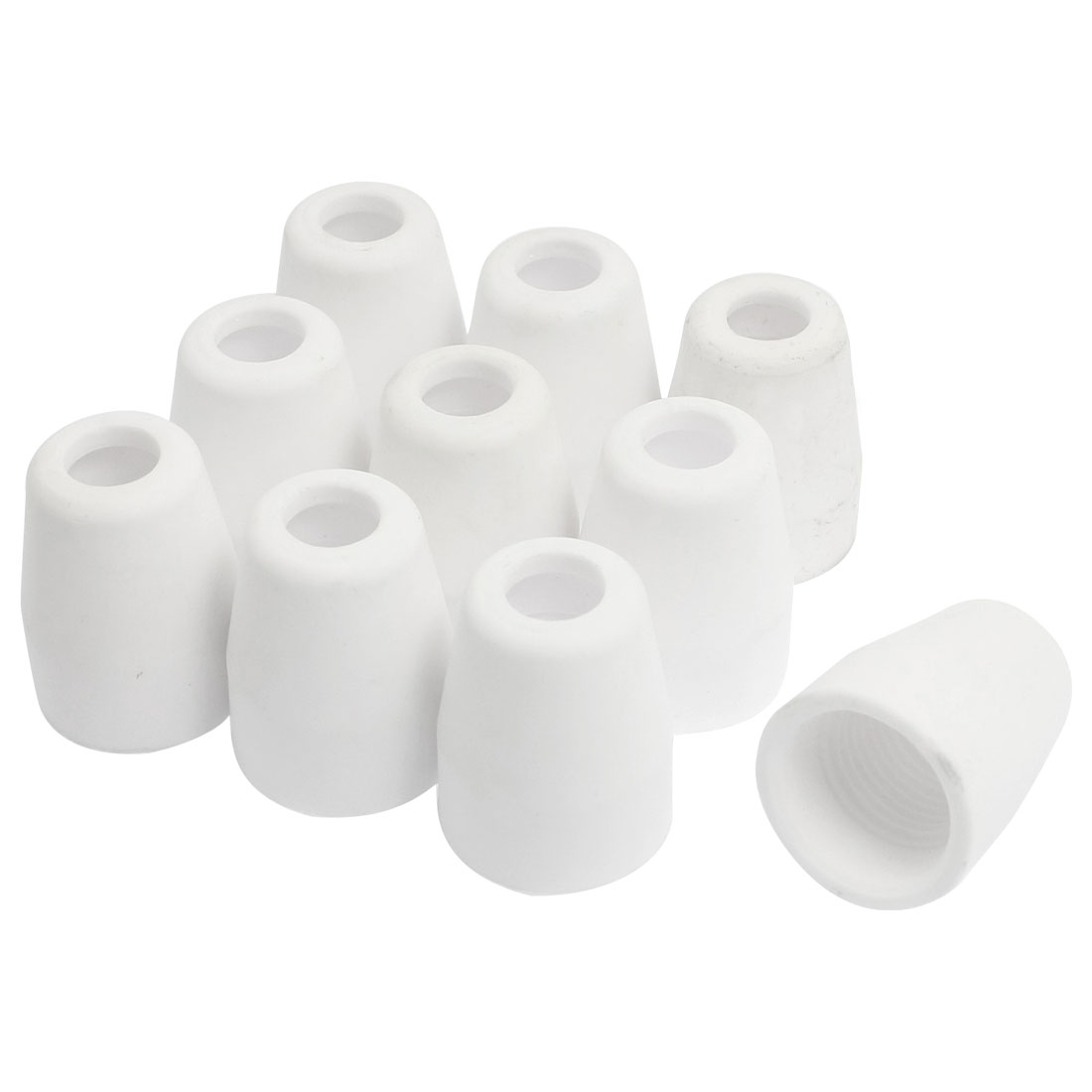 10 Pcs White Cone Shaped Ceramic Nozzles 30mm Long for TIG Torch