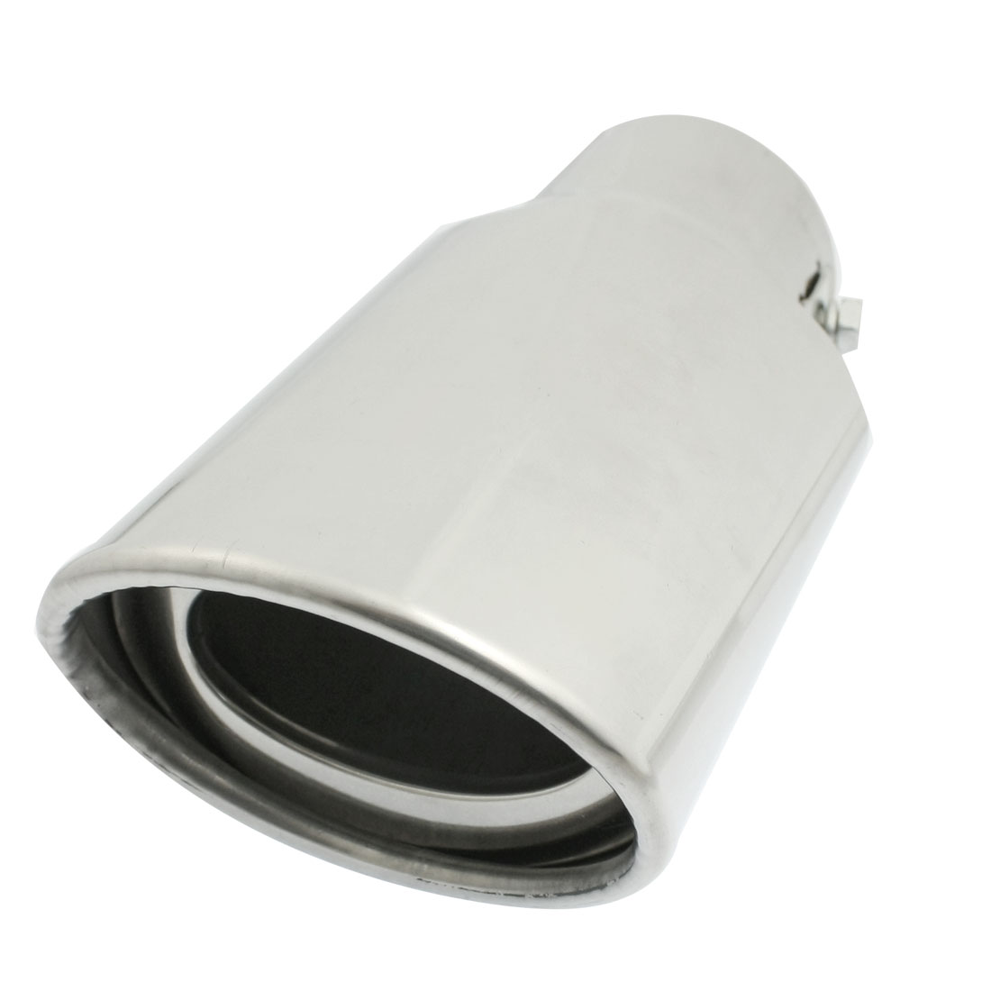"Silver Tone 2.2"" Diameter Inlet Exhaust Pipe Tail Muffler Tip"