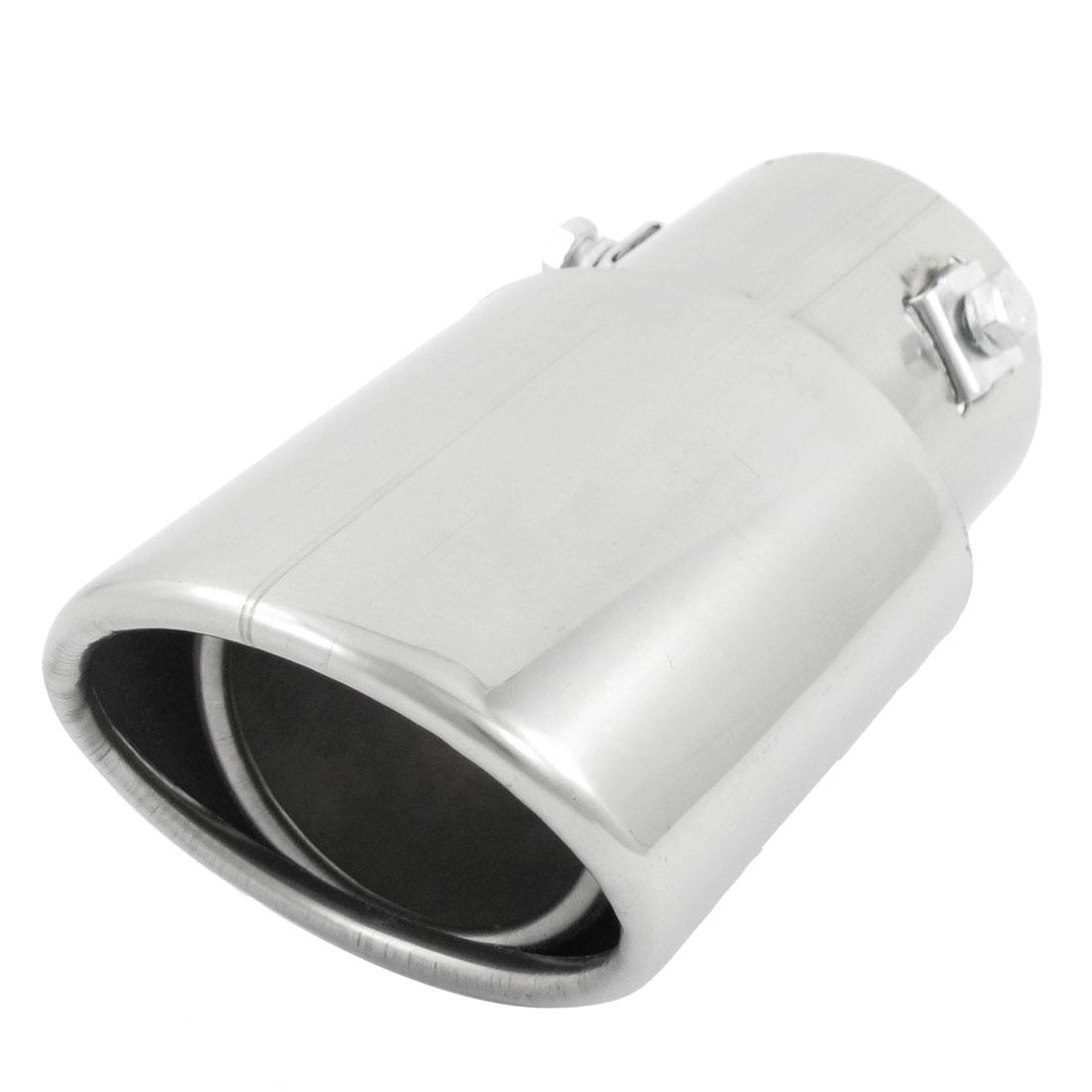 "Silver Tone Metal 2.4"" Diameter Inlet Exhaust Pipe Tail Muffler Tip"