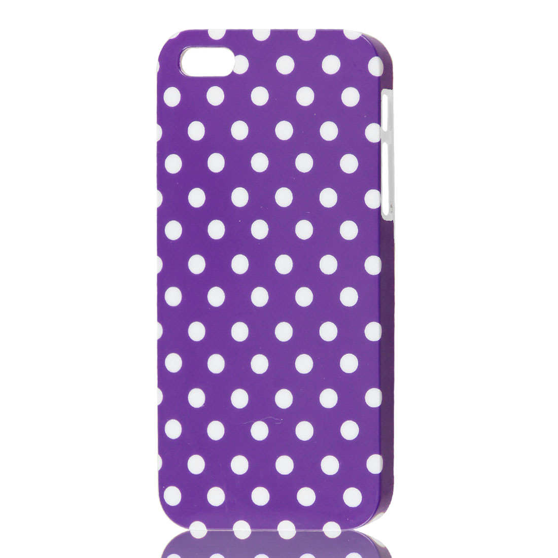 Dots Design Purple IMD Hard Back Cover Case Skin Protector for Apple iPhone 5 5G