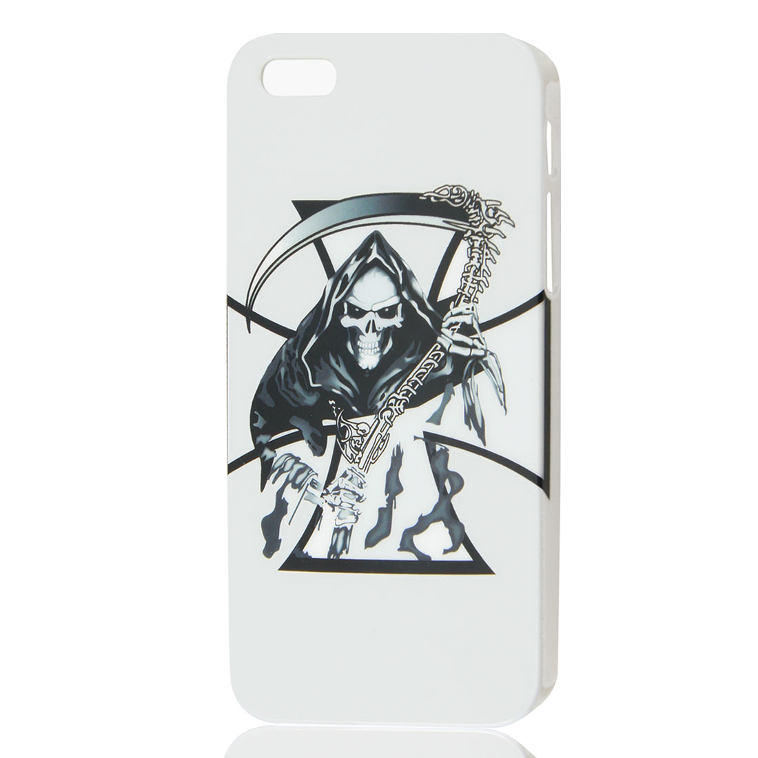 Sword Skull White IMD Hard Back Case Cover for Apple iPhone 5 5G