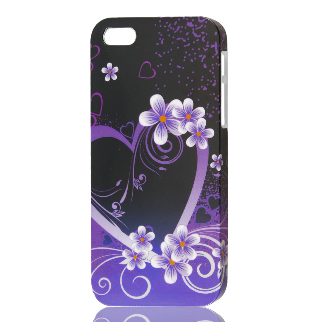 Floral Pattern Purple IMD Hard Back Case Skin Cover for iPhone 5 5G