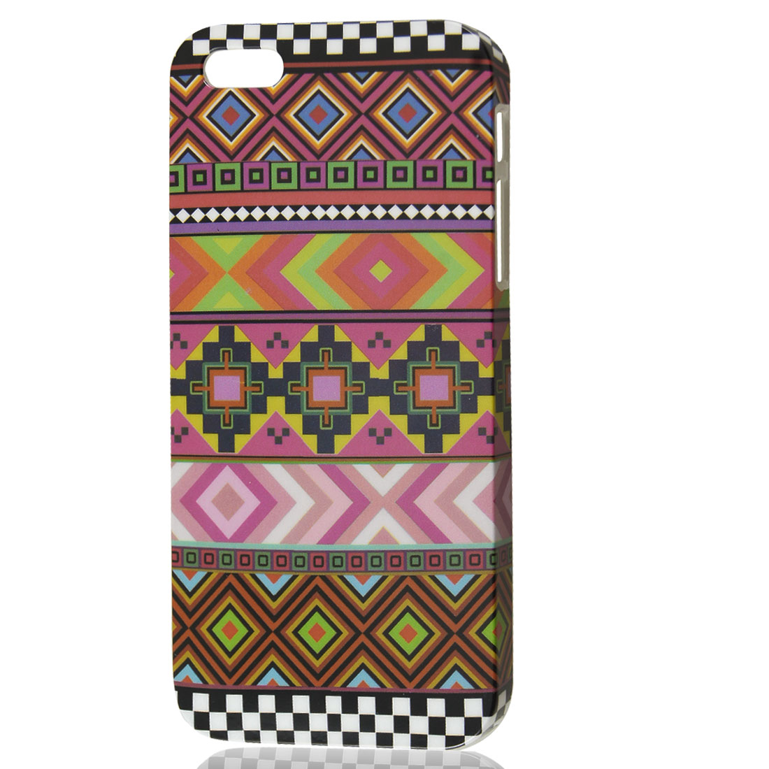 Assorted Color Rhombic Plaid IMD Hard Back Case Cover for iPhone 5 5G