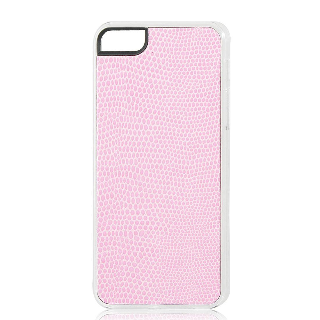 Light Pink Snake Pattern Hard Back Case Cover Skin for iPhone 5 5G