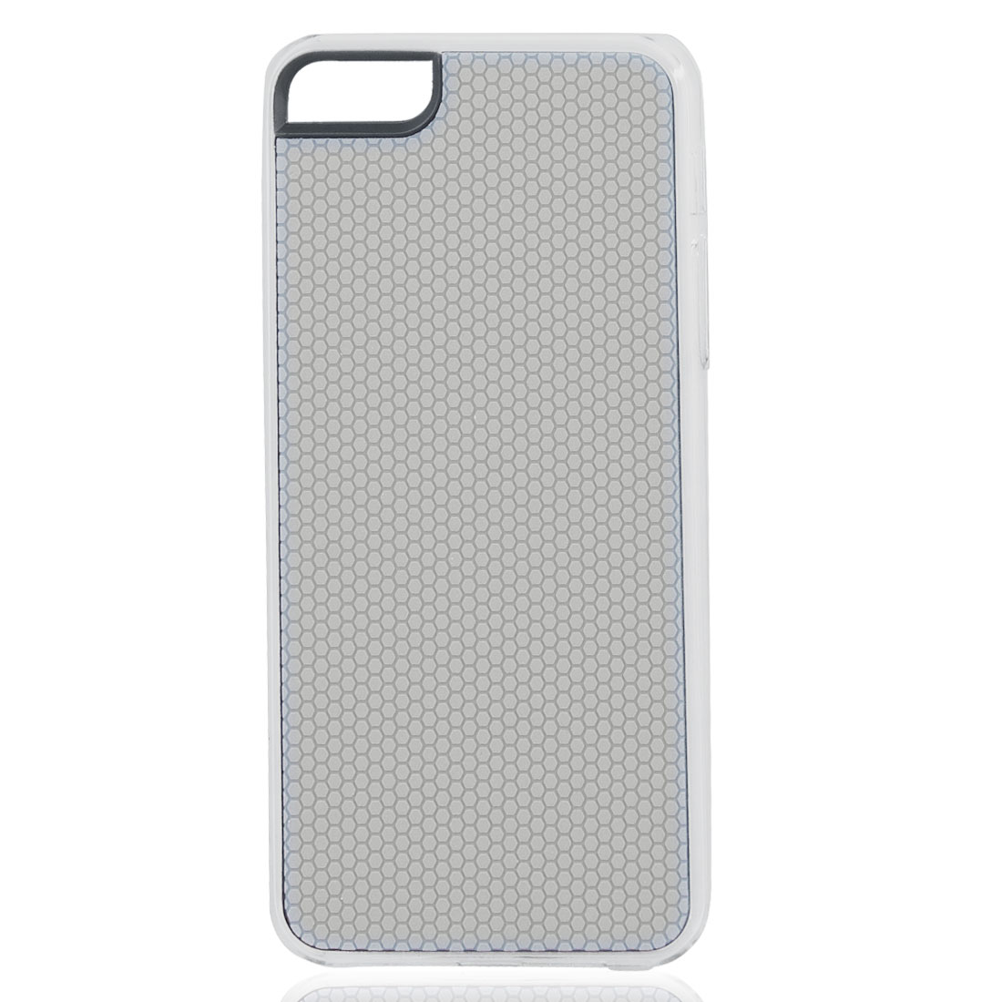 Gray Hexagons Pattern Hard Back Case Cover Skin for iPhone 5 5G