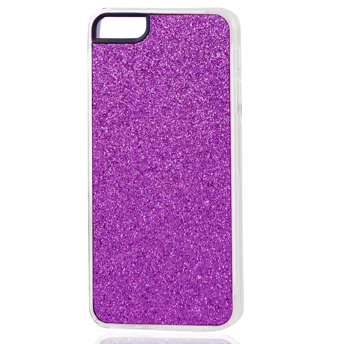 Magenta Glitter Glittery Sparkly Bling Hard Back Case Cover for iPhone 5 5G