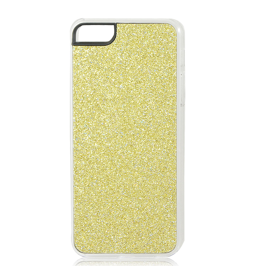 Gold Tone Glitter Glittery Sparkly Bling Hard Back Case Cover for iPhone 5 5G