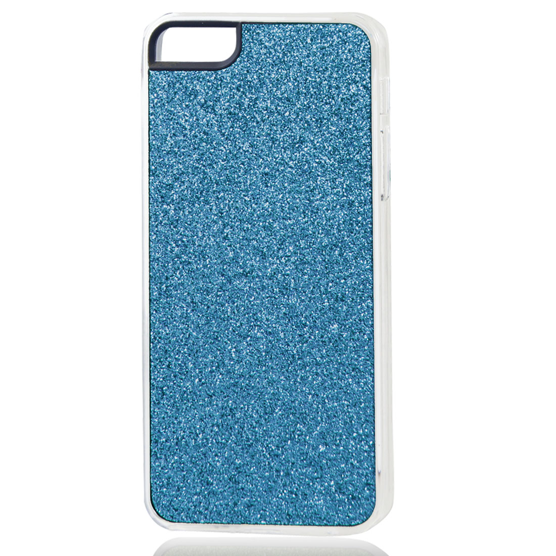 Blue Glitter Glittery Sparkly Bling Hard Back Case Cover for iPhone 5 5G
