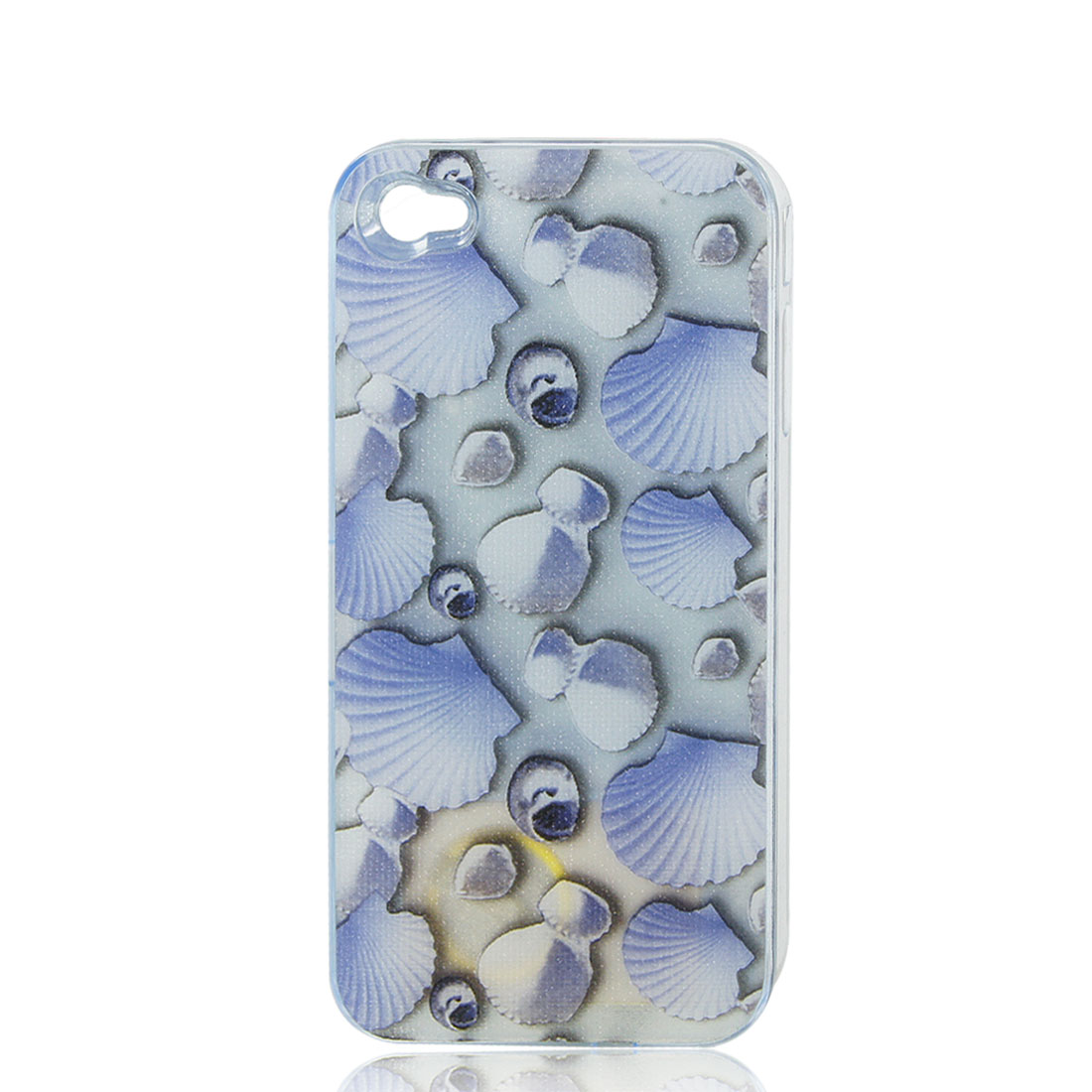 Sea Shell Print Sense Flash Light LED Color Changed Hard Back Case Cover for iPhone 4 4S