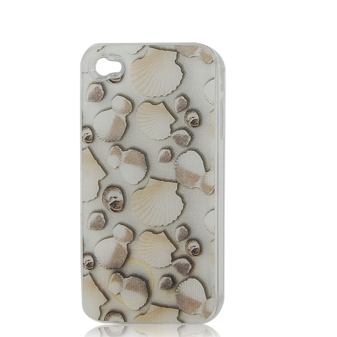 Off White Sea Shell Print Sense Flash Light LED Color Changed Hard Back Case Cover for iPhone 4 4S