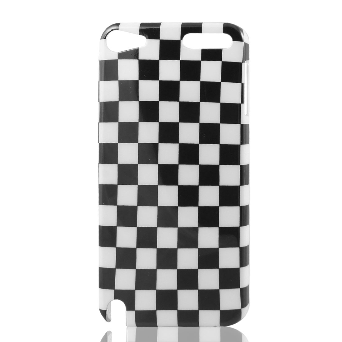 Black White Plaid IMD Hard Back Case Cover for Apple iPod Touch 5 5th
