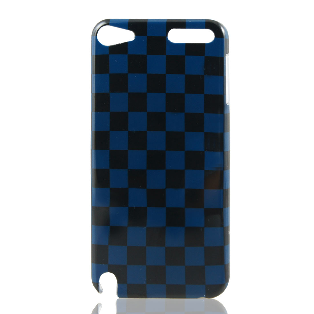 Black Indigo Blue Plaid IMD Hard Back Case Cover for Apple iPod Touch 5 5th