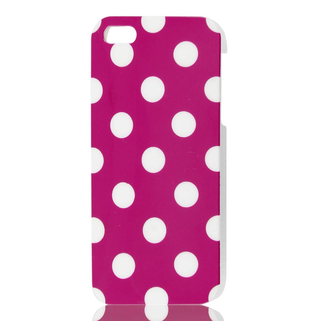 Dot Design Fuchsia IMD Hard Back Cover Case Skin for iPhone 5 5G