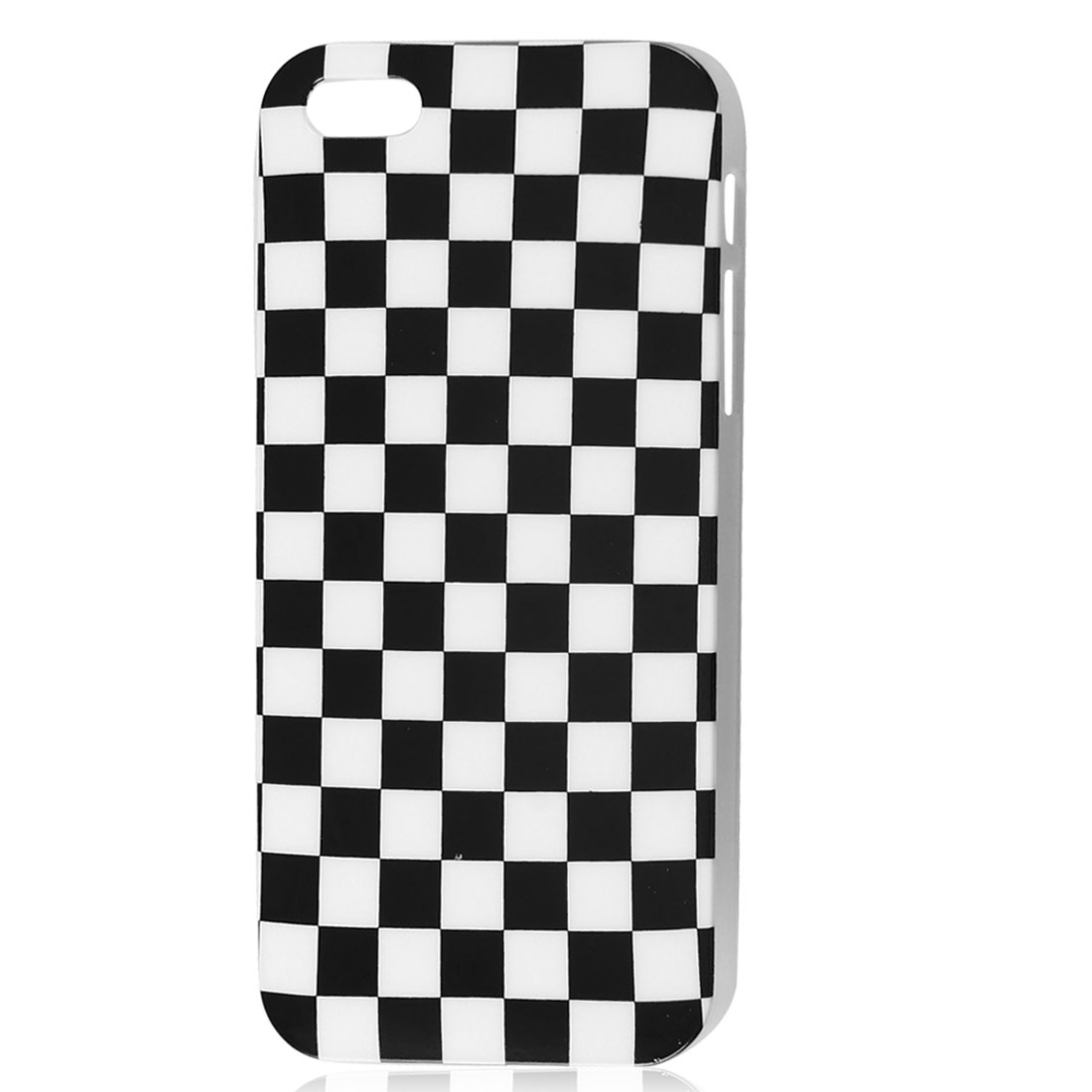 Black White Grid IMD Hard Back Case Skin Cover for iPhone 5 5G