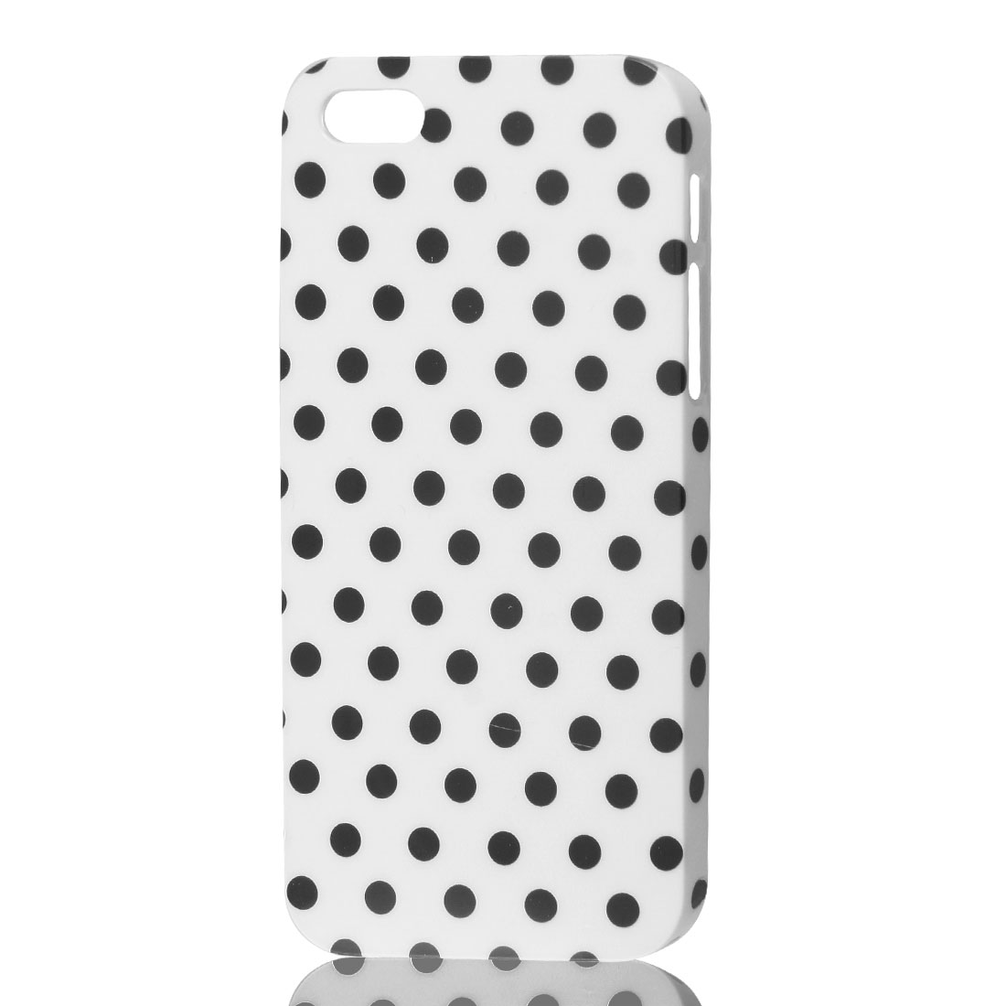 White Dot Pattern IMD Hard Back Cover Protective Case Skin for Apple iPhone 5 5G