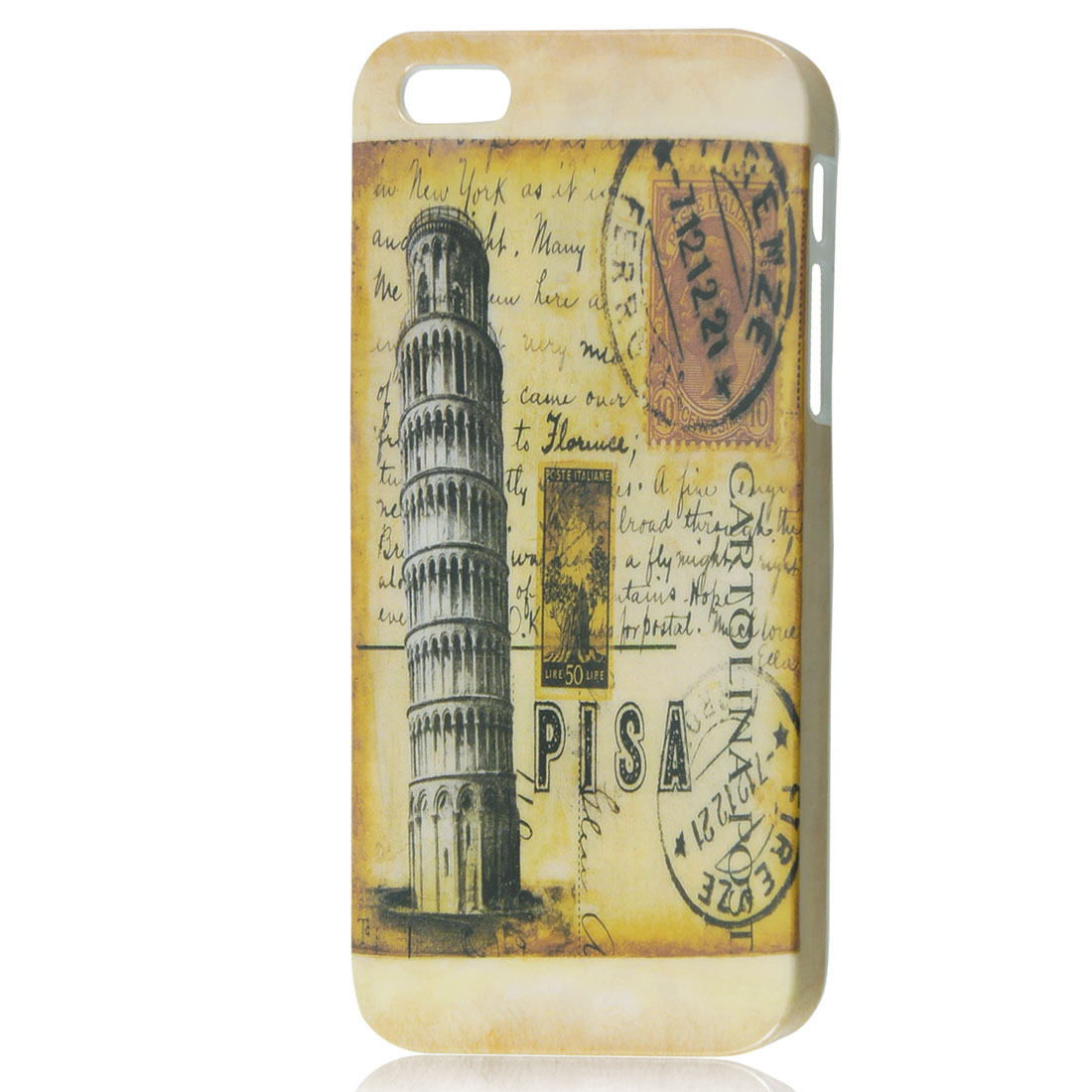 Vintage Style Leaning Tower of Pisa IMD Hard Back Case Cover for iPhone 5 5G