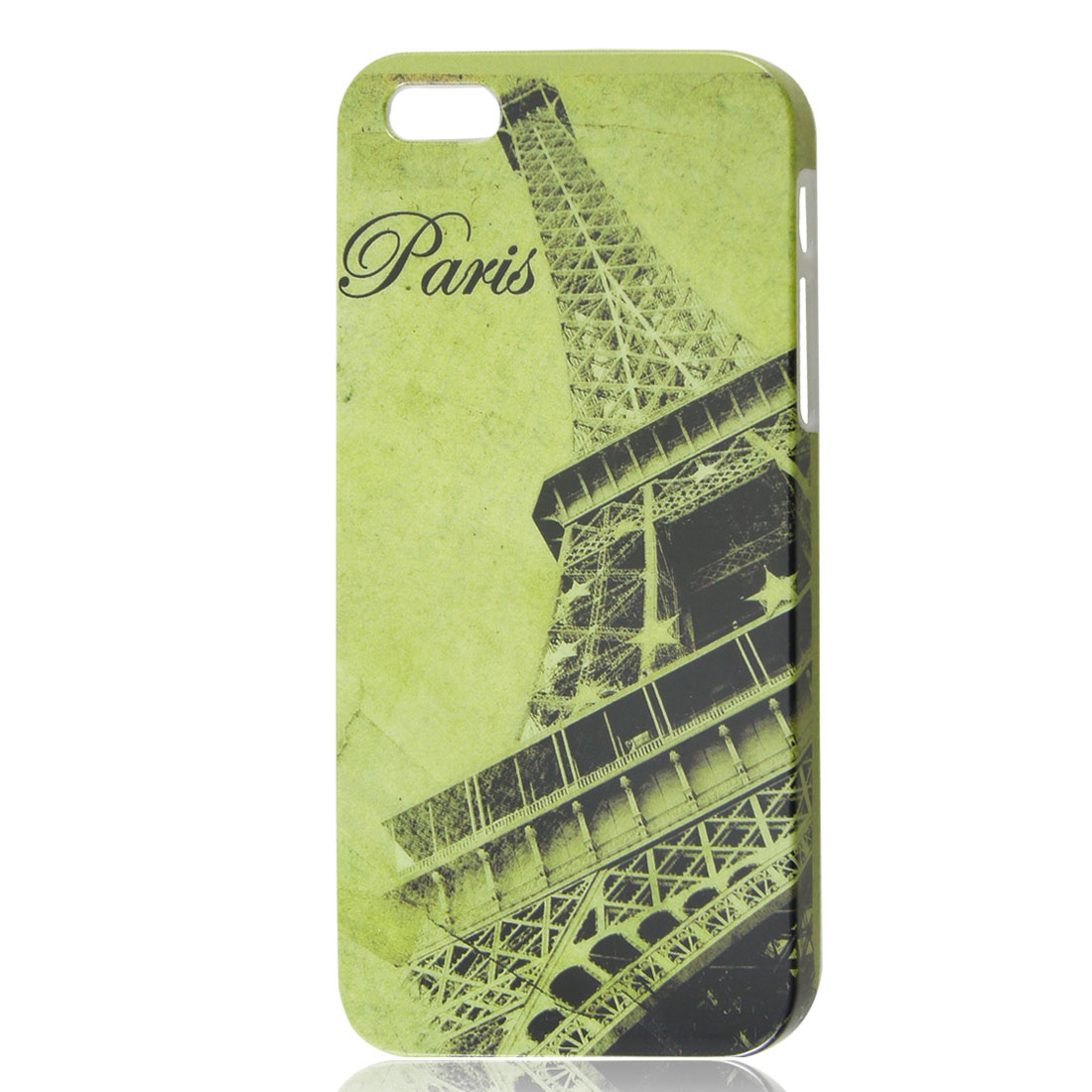 Eiffel Tower Retro Style Pale Green IMD Hard Back Case Cover for iPhone 5 5G