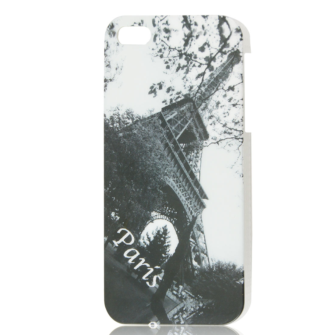 Vintage Style Eiffel Tower Design Gray IMD Hard Back Case Cover for iPhone 5 5G