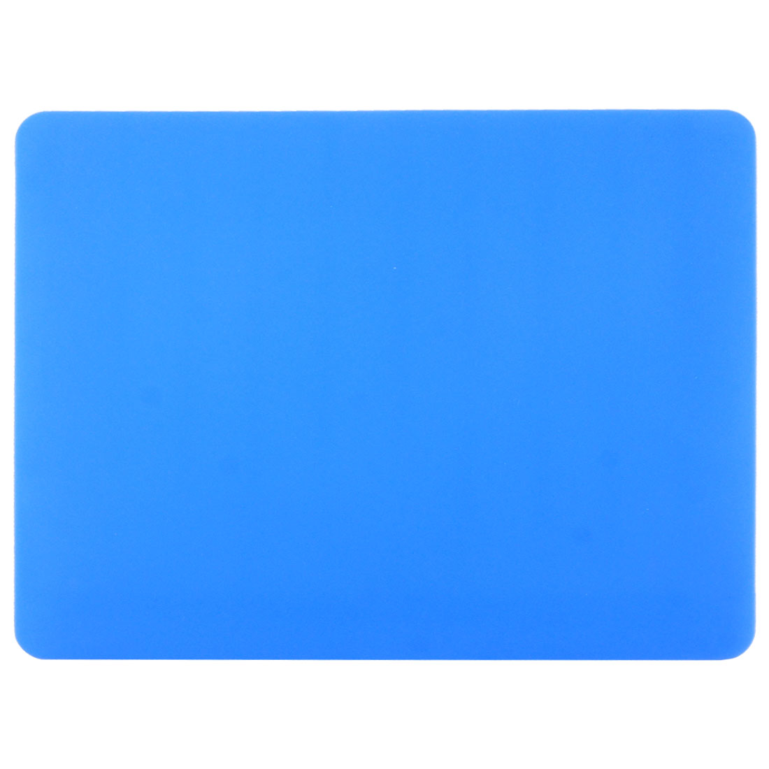 22.8cm x 19cm Rectangle Nonslip Soft Silicone Mouse Pad Blue for PC Computer