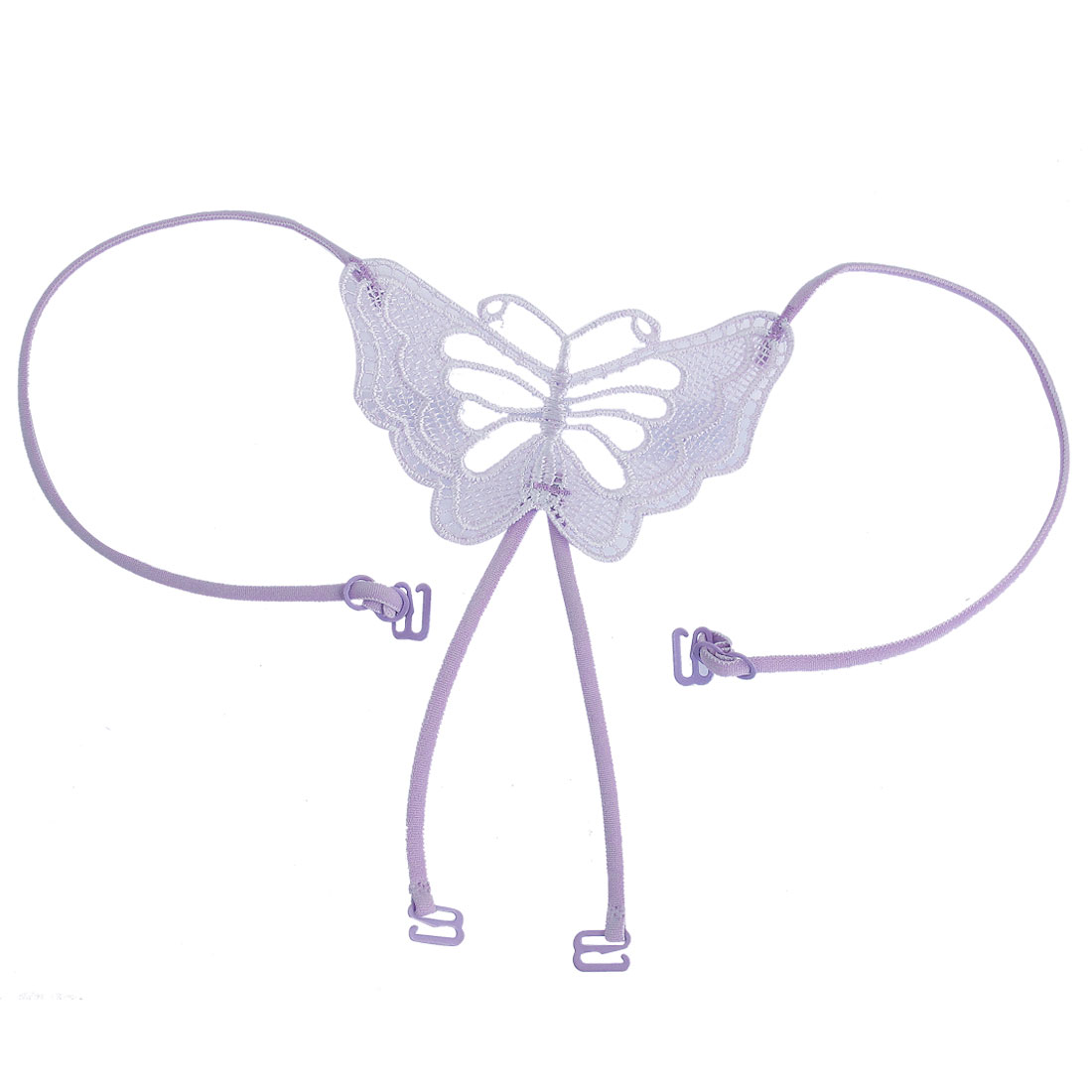 Light Purple Butterfly Design Stretchy Cross Back Bra Strap for Ladies