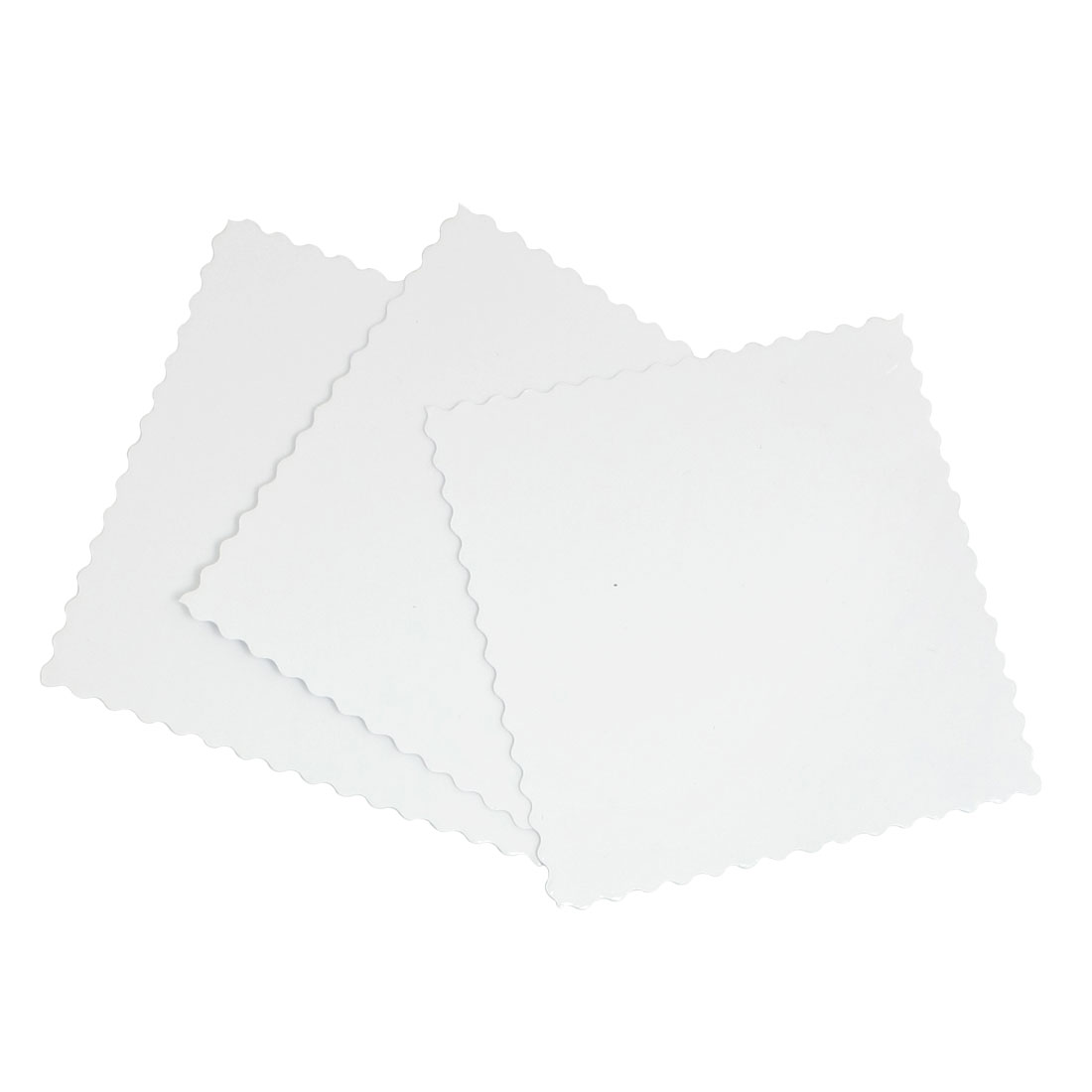 9.2cm Square Shape Car Window Signal Clear Cling Static Sticker 3 Pcs