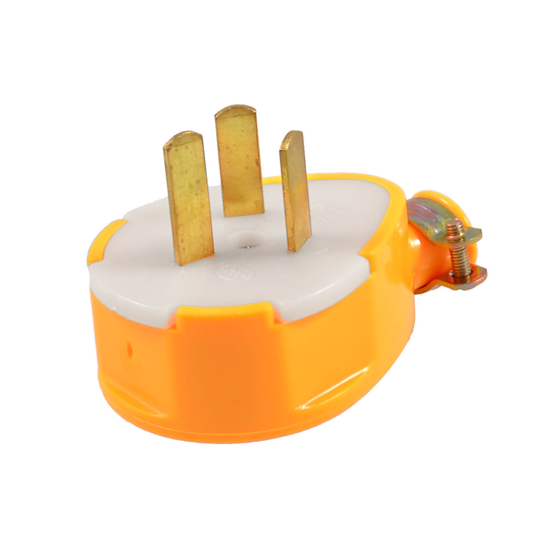 Industrial Yellow Plastic Shell AU 3 Pole Power Plug Adapter AC 250V 10A