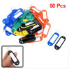Car ID Name Label Tag Split Ring Keyring Keychain Card Holder Colorful 50 Pcs