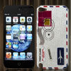 Air Mail Express Parcel Design IMD Hard Back Case Cover for Apple iPod Touch 5 5th