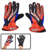 Men Pair Black Red Nylon Bicycle Sports Full Fingers Winter Warm Gloves
