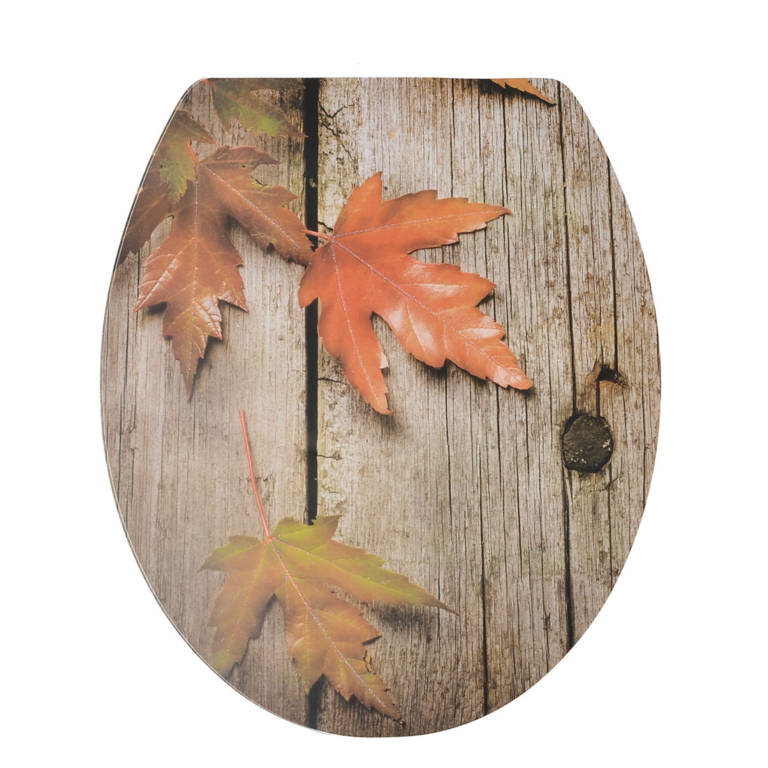 Decorative Maple Leaf Pattern Toilet Lid Seat Cover Decal Sticker
