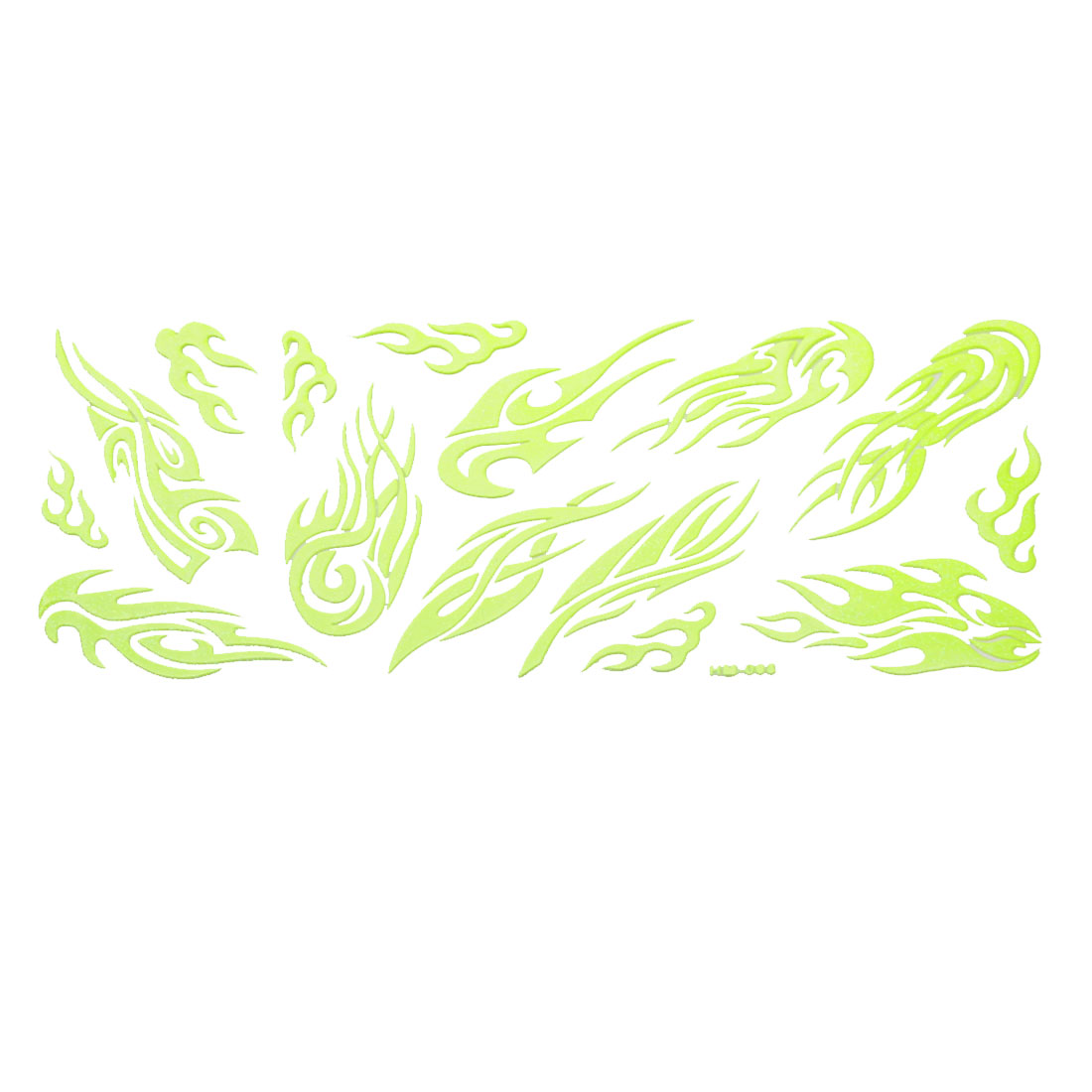 Wall Decor Blaze Design Light Green Luminous Stickers 15 in 1 Set