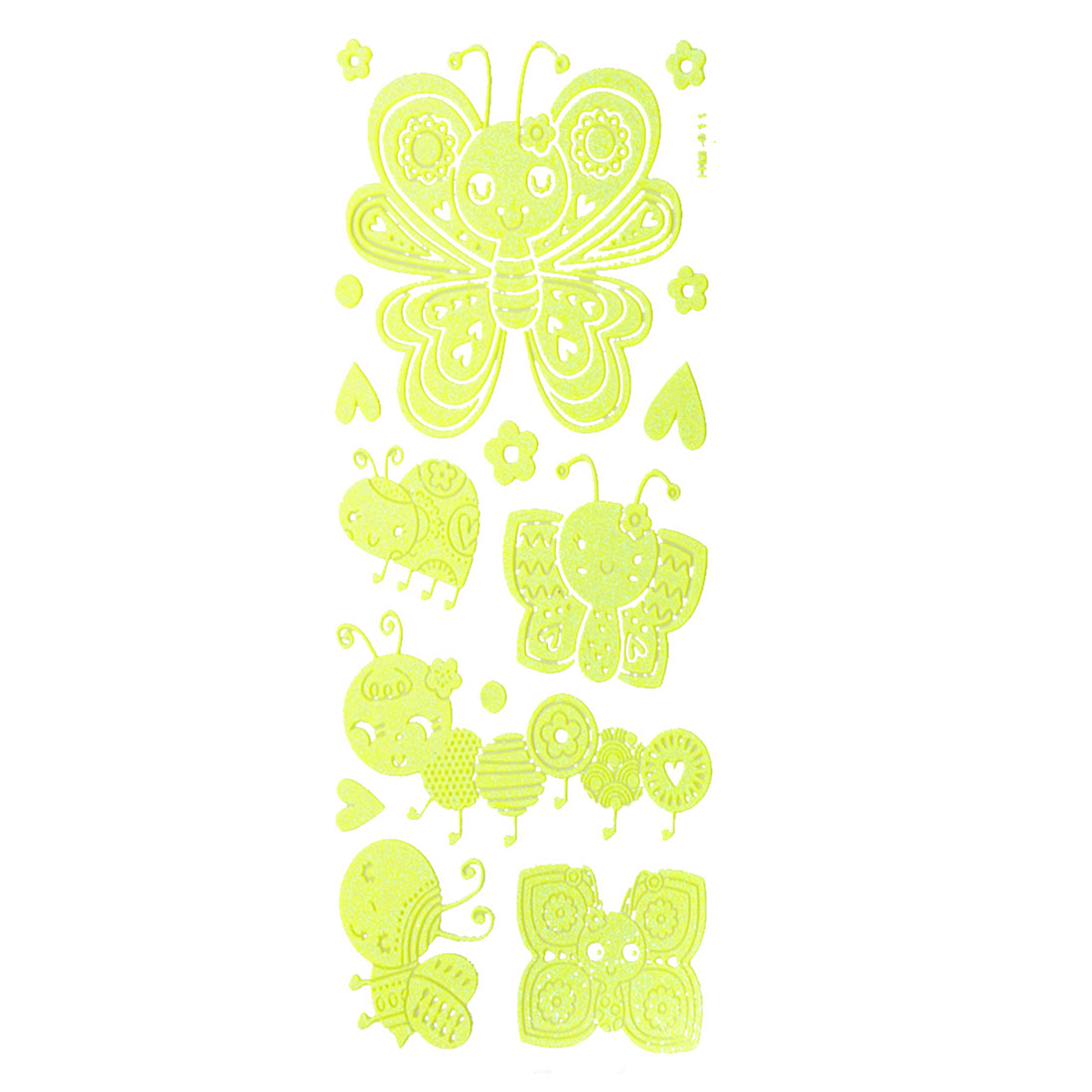14 in 1 Set Honey Bee Flowers Design Light Green Luminous Stickers