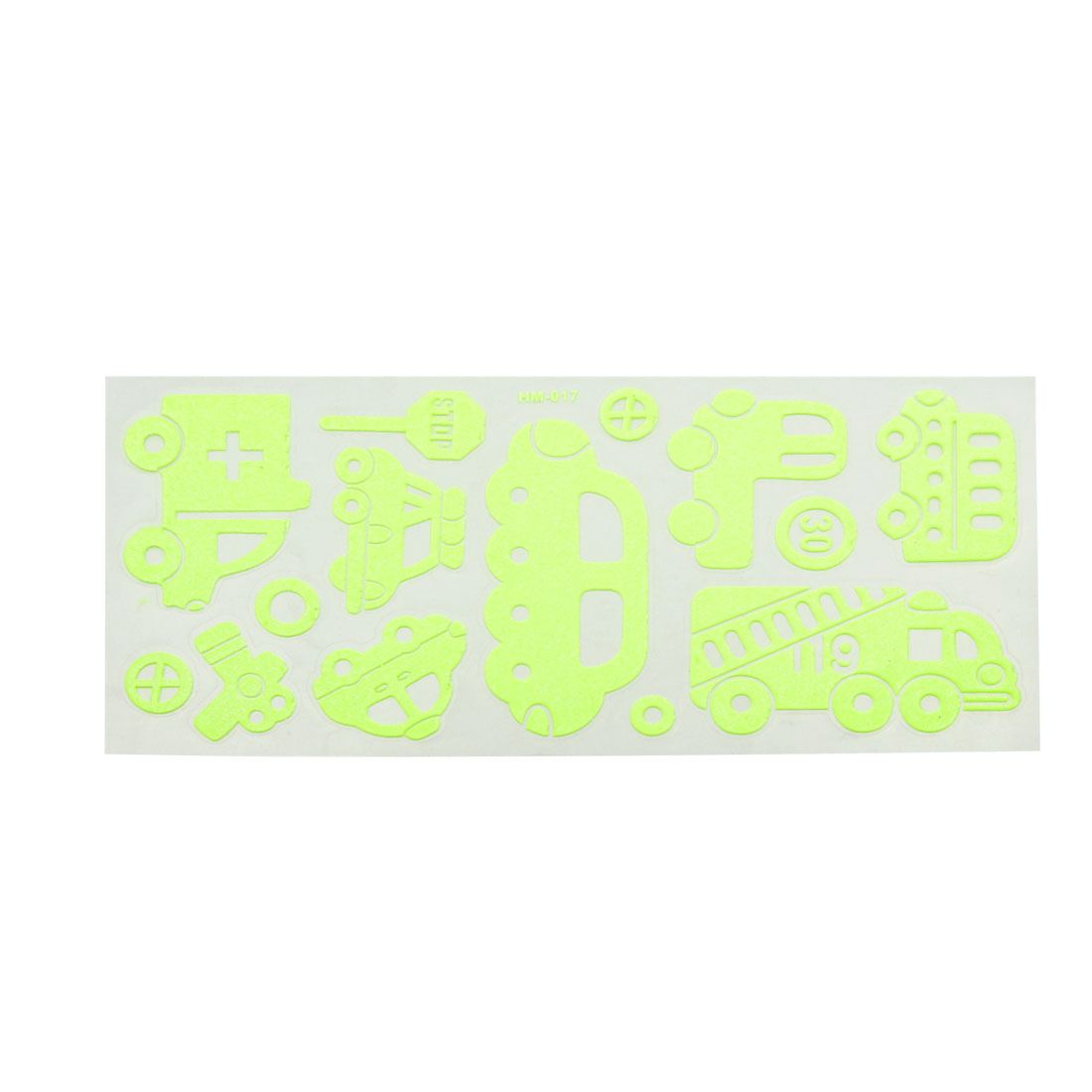 Wall Decor Auto Car Shaped Light Green Luminous Stickers 14 Pcs