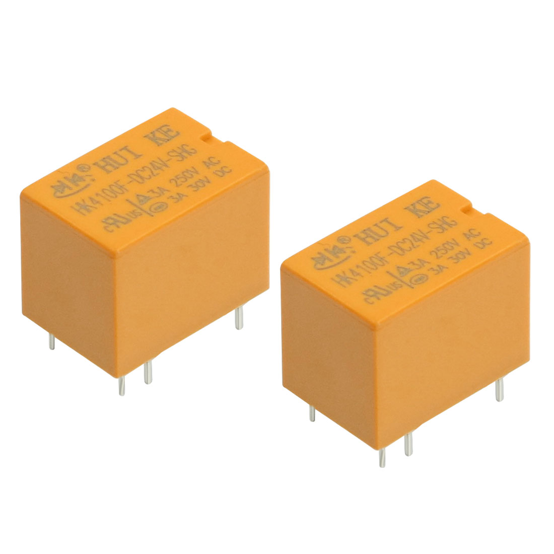 2 Pcs HK4100F-DC24V-SHG DC 24V Coil SPDT 6 Pin PCB General Purpose Power Relay