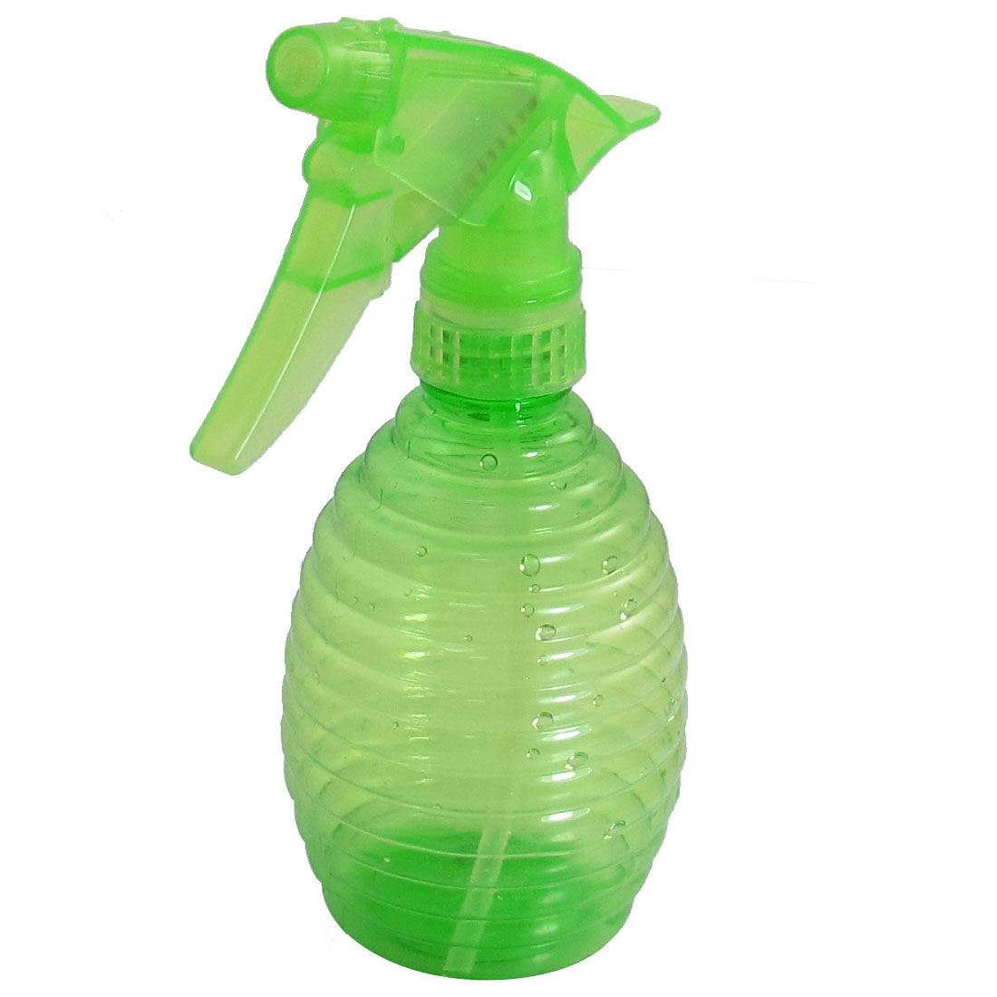 Green Plastic Tear Drop Shaped Hairdressing Trigger Spray Bottle 350ml