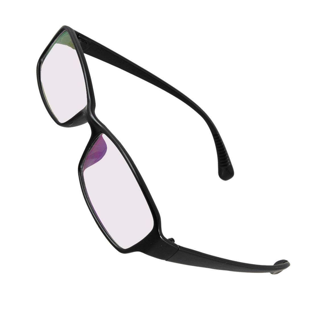 Solid Black Multi Coated Lens Plano Glasses Eyeglasses for Women