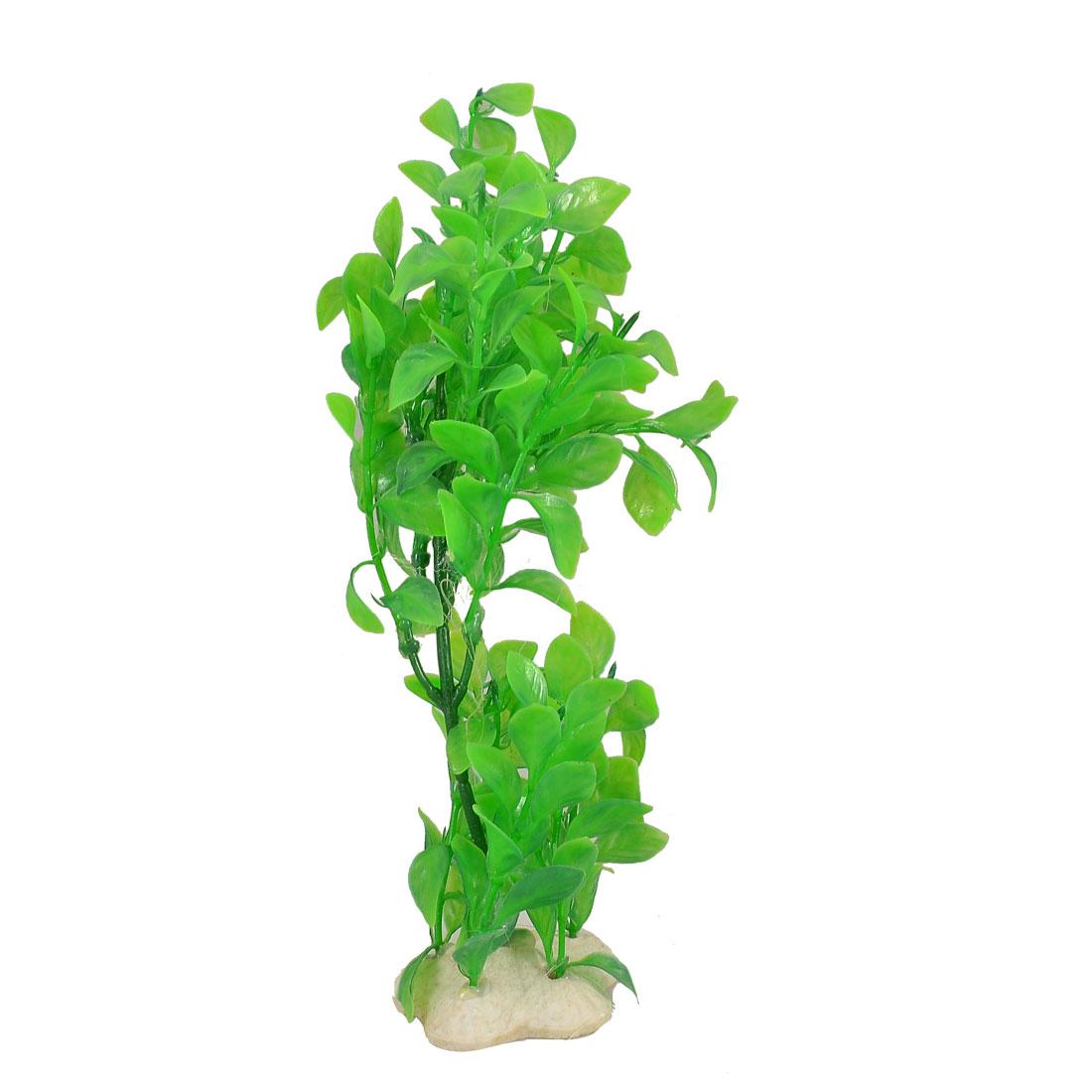 "8.6"" Plastic Green Leaves Water Grass for Aquarium Fish Tank"