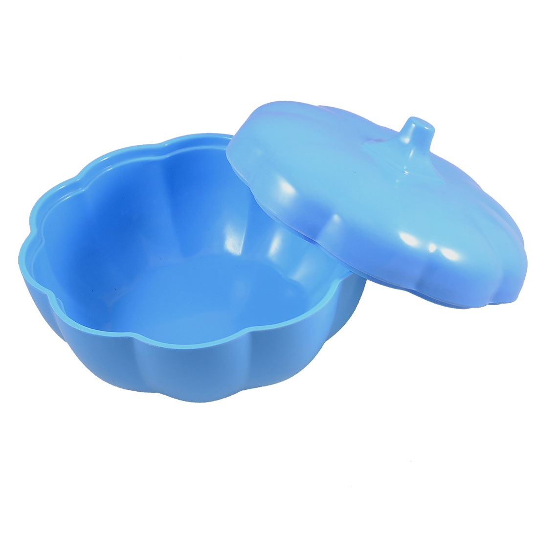 Hard Plastic Blue Pumpkin Shape Covered Candy Dish Holder