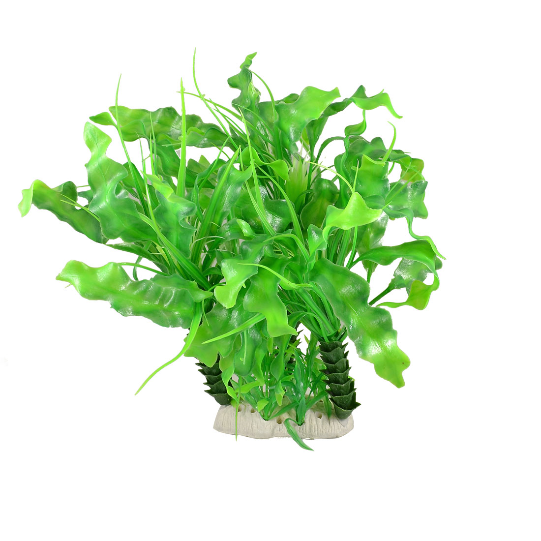 "11"" Height Green Aquarium Plastic Tree Plant Ornament for Fish Tank"