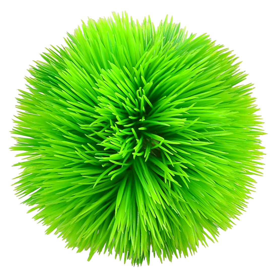 "3.9"" High Green Round Shaped Emulational Water Grass Ornament for Aquarium"