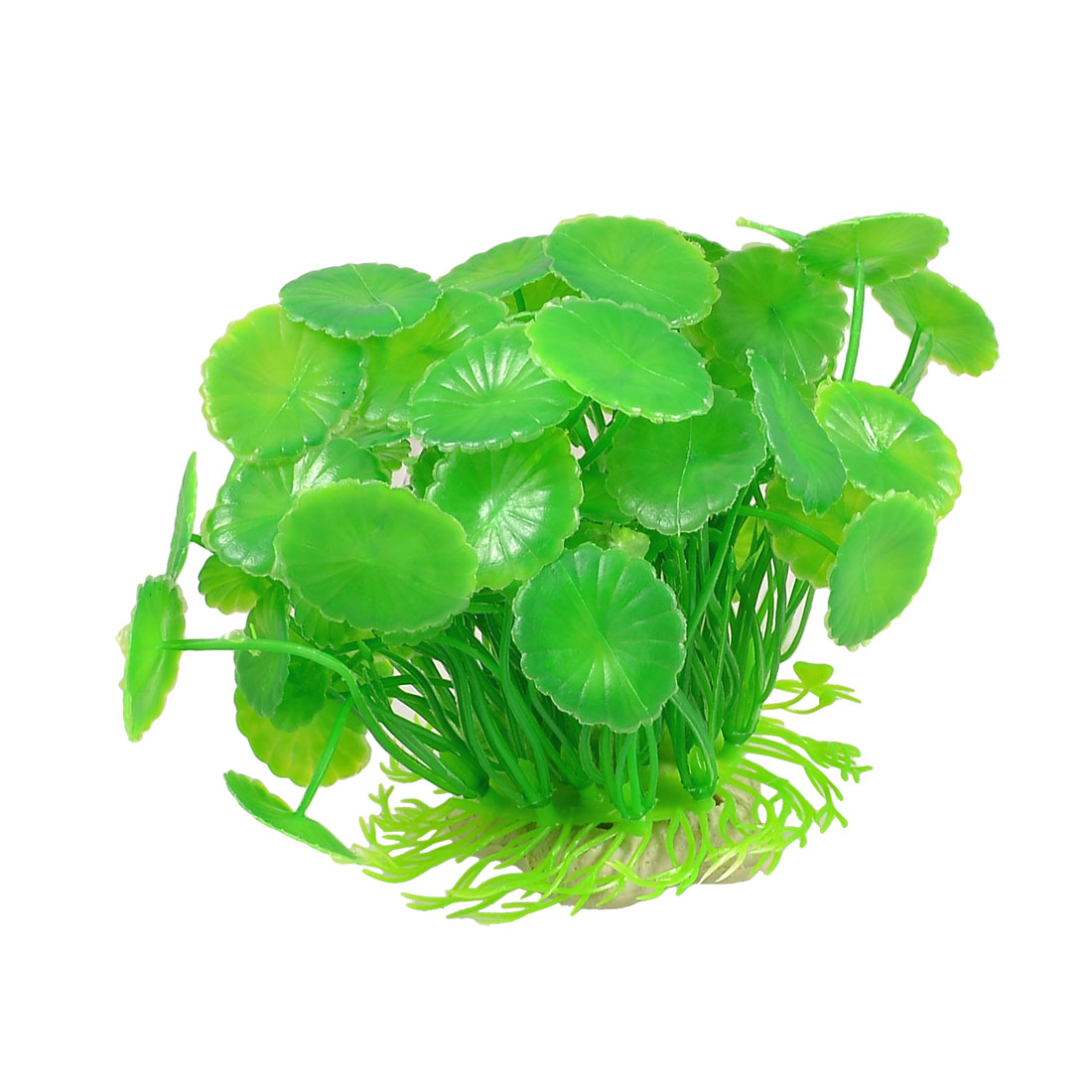 "3.9"" High Green Oval Shaped Artificial Water Grass Ornament for Aquarium"