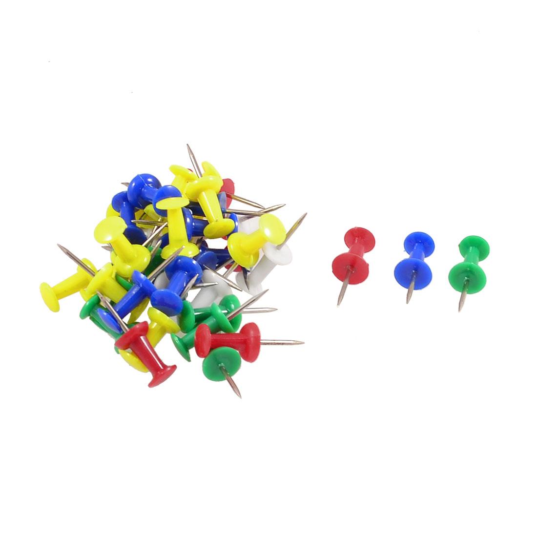 40 Pcs Assorted Color Plastic Head Metal Pin Thumbtacks