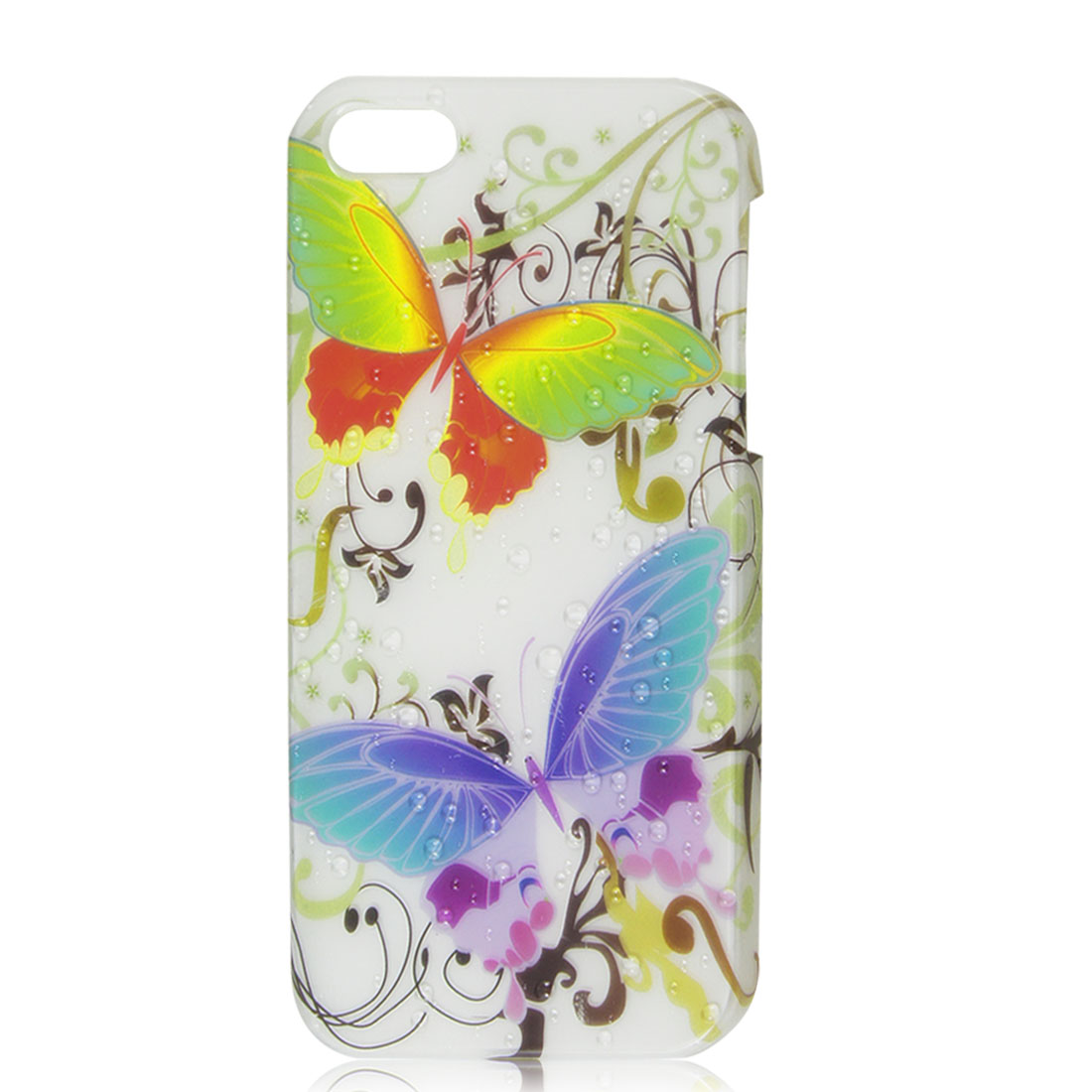 Colorful Butterfly 3D Water Drop Raindrop Hard Back Case Cover for iPhone 5 5G