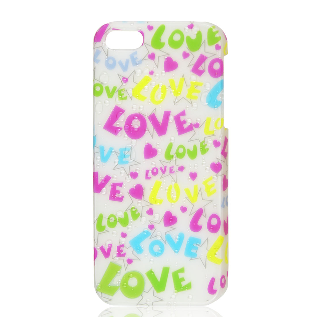 Colorful Love Letters 3D Water Drop Waterdrop Hard Back Case Cover for iPhone 5 5G